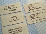 シンプルテキストタグ 綿平織 茶 20枚セット